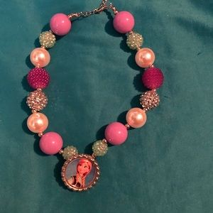Chunky bubble Frozen Anna necklace